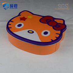 hello kitty cat shaped tin box for sweet