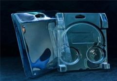 Earphone clamshell packaging, clear plastic packaging box