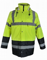 high visibility men safety workwear