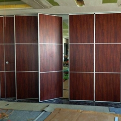 Operable Sliding Aluminium Track Wheel Hanging System Wooden Partition Walls