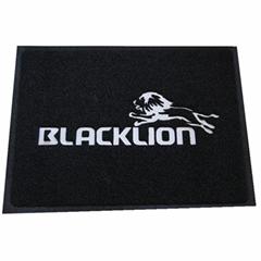 anti slip pvc backing logo mat floor mat design custom door mat