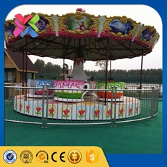 Hot selling amusement park equipment tea cup ride with trailer