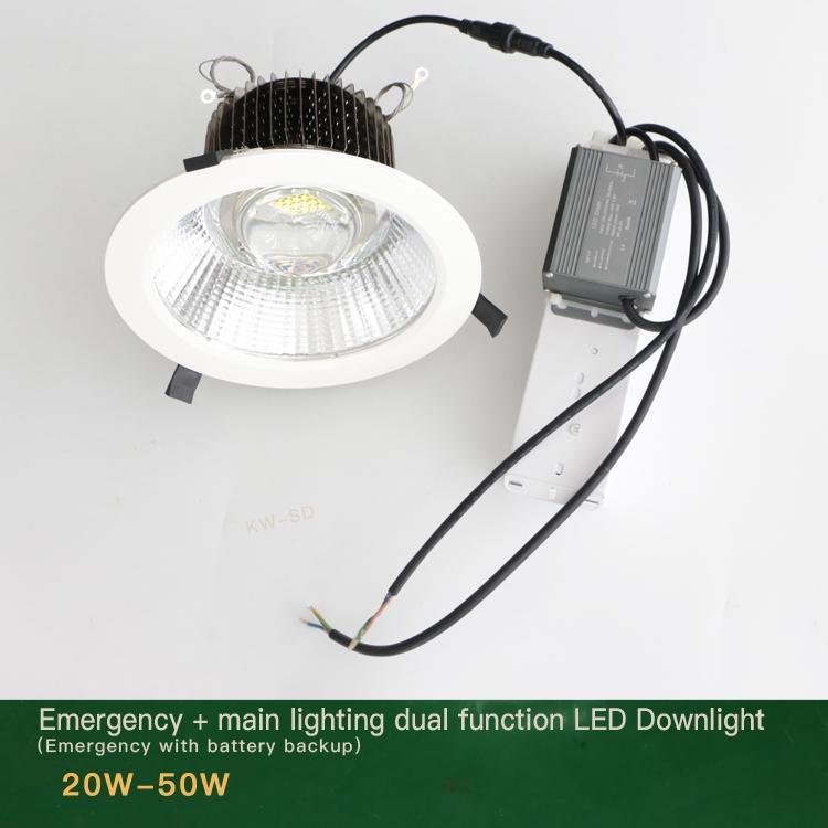 Emergency led downlight 20W 30W 50W 60W 80W Lithium battery backup  3