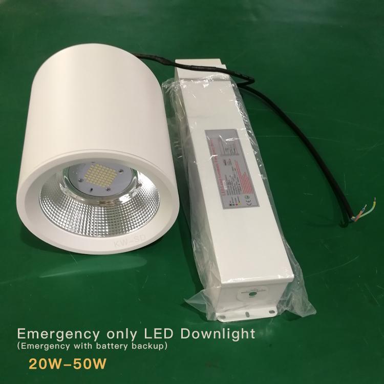 Emergency led downlight 20W 30W 50W 60W 80W Lithium battery backup  4