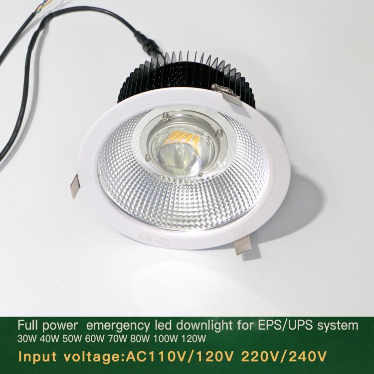 Emergency led downlight 20W 30W 50W 60W 80W Lithium battery backup  5