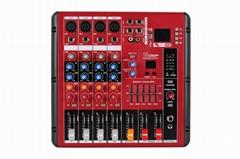专业出口调音台4路纯台厂家直销带USB均衡蓝牙录音可OEM纯调音台