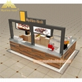 Custom Modern Shopping Mall Retail Wooden Food Kiosk Supplier 3