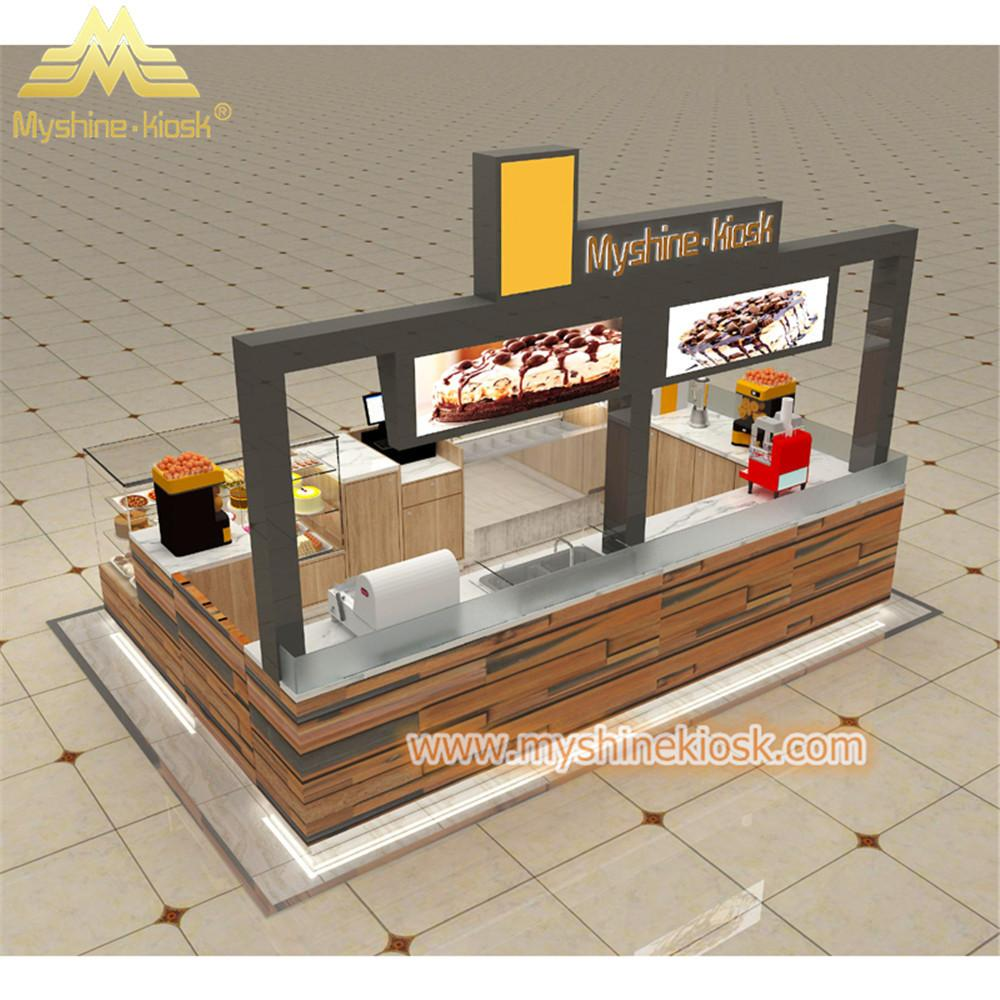 Custom Modern Shopping Mall Retail Wooden Food Kiosk Supplier 4