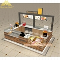 Custom Modern Shopping Mall Retail Wooden Food Kiosk Supplier 2