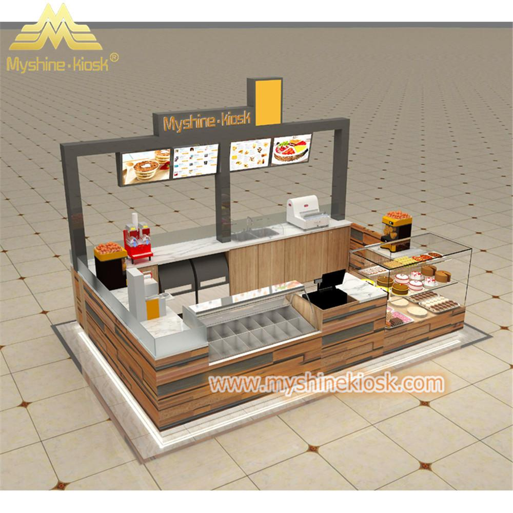 Custom Modern Shopping Mall Retail Wooden Food Kiosk Supplier 1