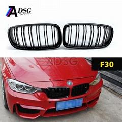 Top Sale Dual-slat Front carbon fiber Grille For BMW 3 Series F30