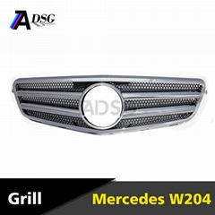 ABS chrome W204 front grille cover for Mercedes W204 grille
