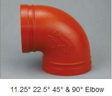FM&UL approved ductile iron pipe fitting elbow