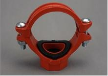 FM/UL ductile iron grooved fitting,mechnical tee