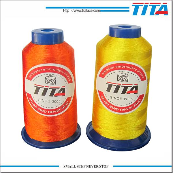 Polyester vivid color embroidery thread from Hangzhou 1