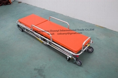 Adjustable Aluminum Alloy Ambulance Stretcher with Waterproof Cushion