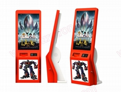 Multifunctional customized self service ticket vending machine with card reader