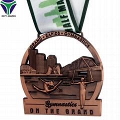 Low Prices Custom Graphic Design 3D Gymnastics Medal