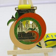 Factory promotional custom design your own logo 3d gold Souvenir Running Medal