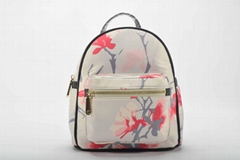 Nylon Flower Mini Backpack