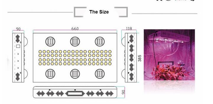 UL Approved 900W COB 5W Chip Led Grow Light 7