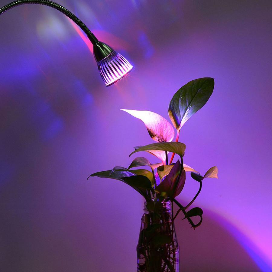 10W Clip Desk Lamp Dual Head LED Grow Light 4