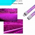 T8-18W LED tube grow light(Led Spectrum:Red:Blue (8:1)) 8