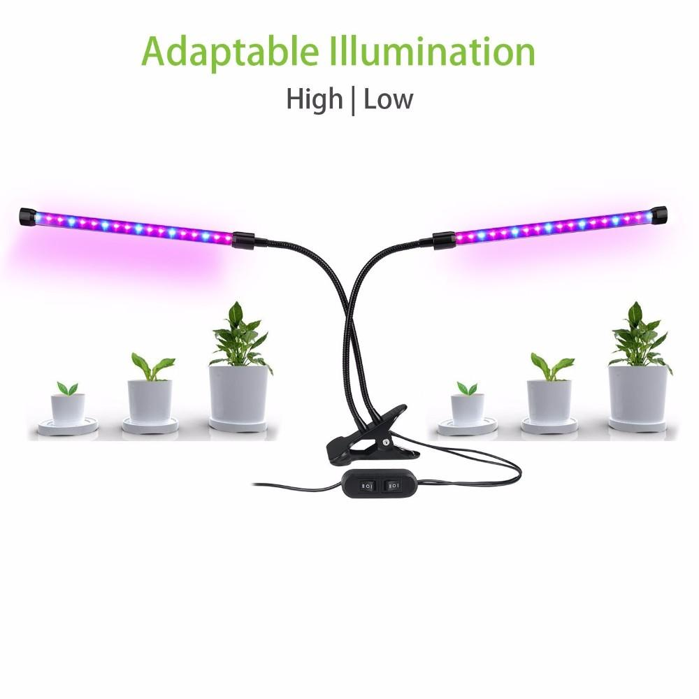 Dual Head 12W clip plant led grow light for Indoor 1