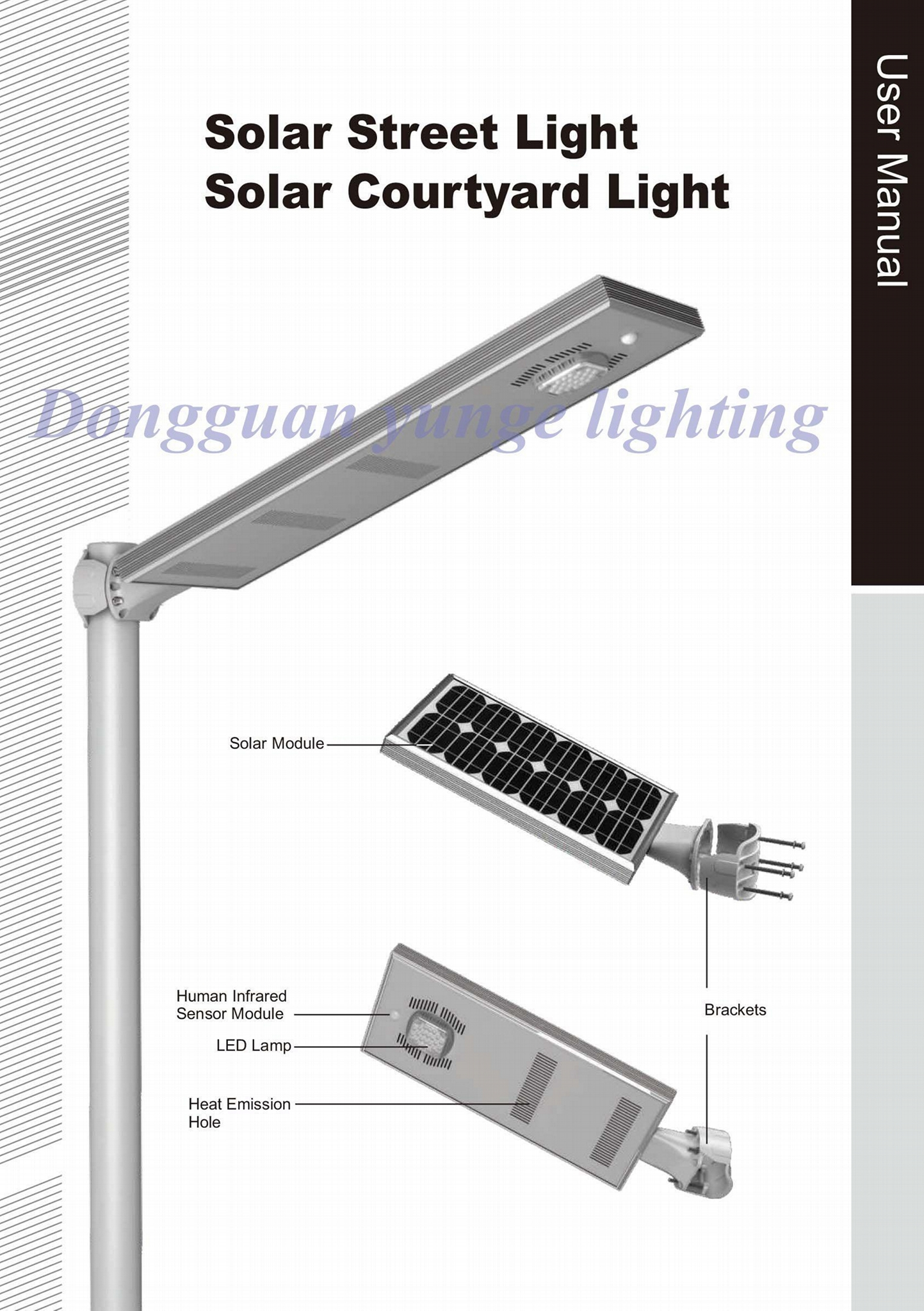 15W Solar Panel,8W LED LiFePo4 lithium-iron battery Integrated Solar light 5