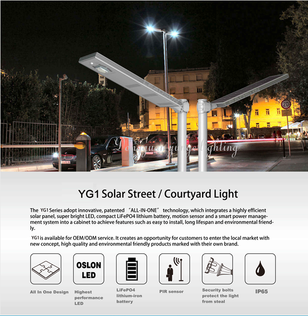 15W Solar Panel,8W LED ALL-IN-ONE LED solar lamp PIR (Working Time 21 hours) 5
