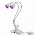 10W Clip Desk Lamp Dual Head LED Grow
