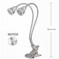 10W Clip Desk Lamp Dual Head LED Grow Light