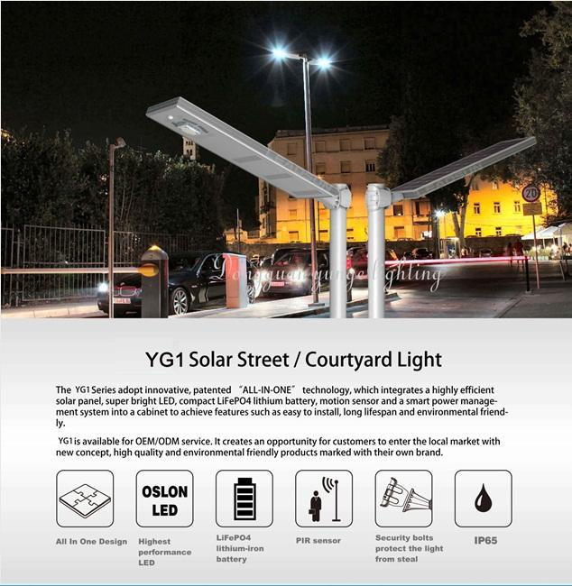 25W Solar Panel,10W LED Integrated Solar Street Lights(Working Time 10 hours) 7