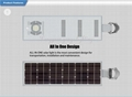 25W Solar Panel,10W LED solar street light PIR (Working Time 14 hours) 4