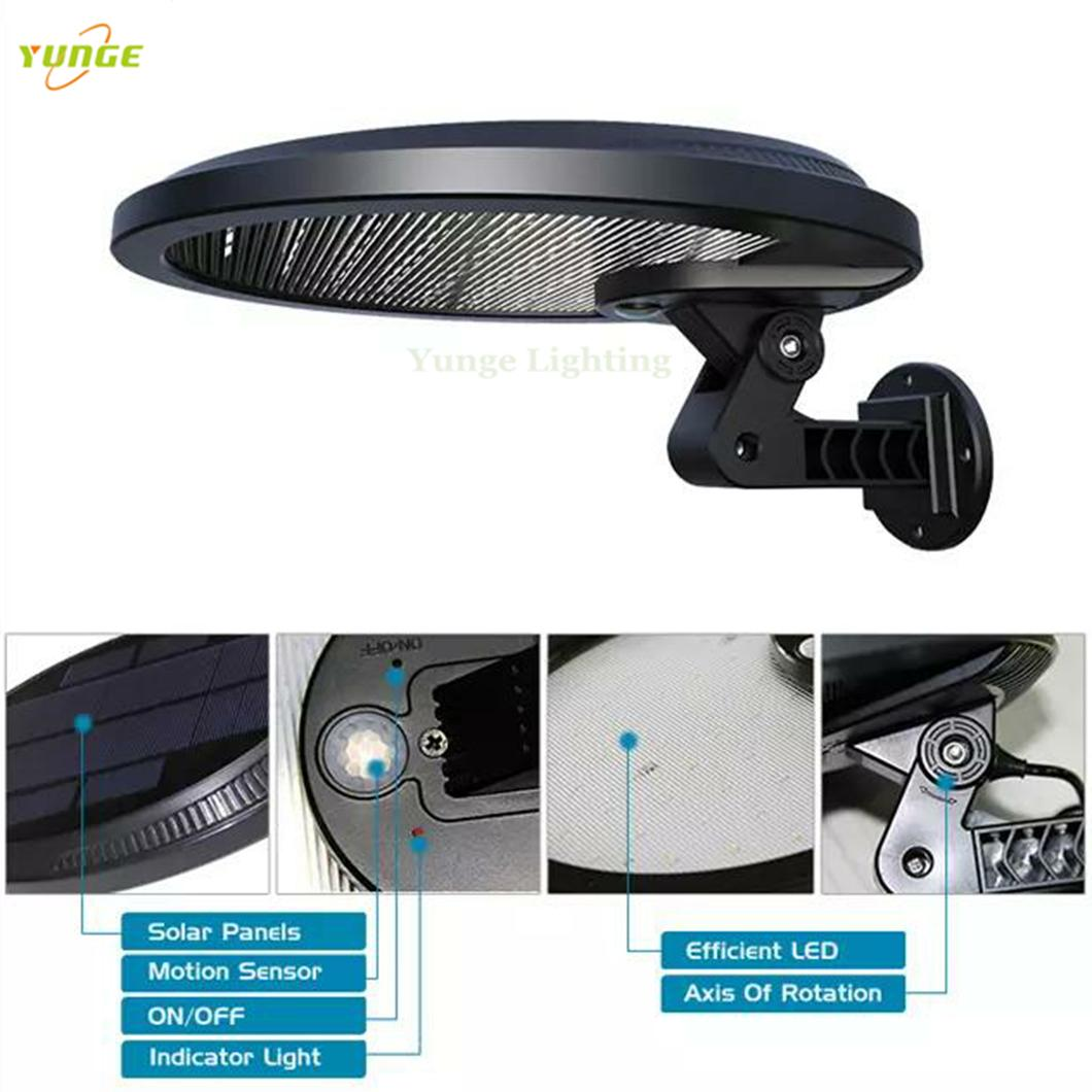 3W solar panel,6W LED Solar Motion Wall Light With Alarm System 1