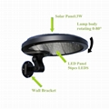 3W solar panel,6W LED Solar Motion Wall Light With Alarm System 8