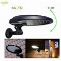 3W solar panel,6W LED Solar Motion Wall Light With Alarm System 5