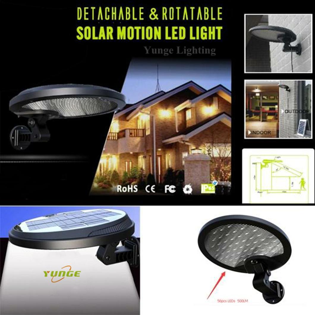 3W solar panel,6W LED Solar Motion Wall Light With Alarm System 7
