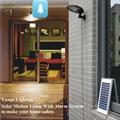 3W solar panel,6W LED Solar Motion Wall Light With Alarm System 16