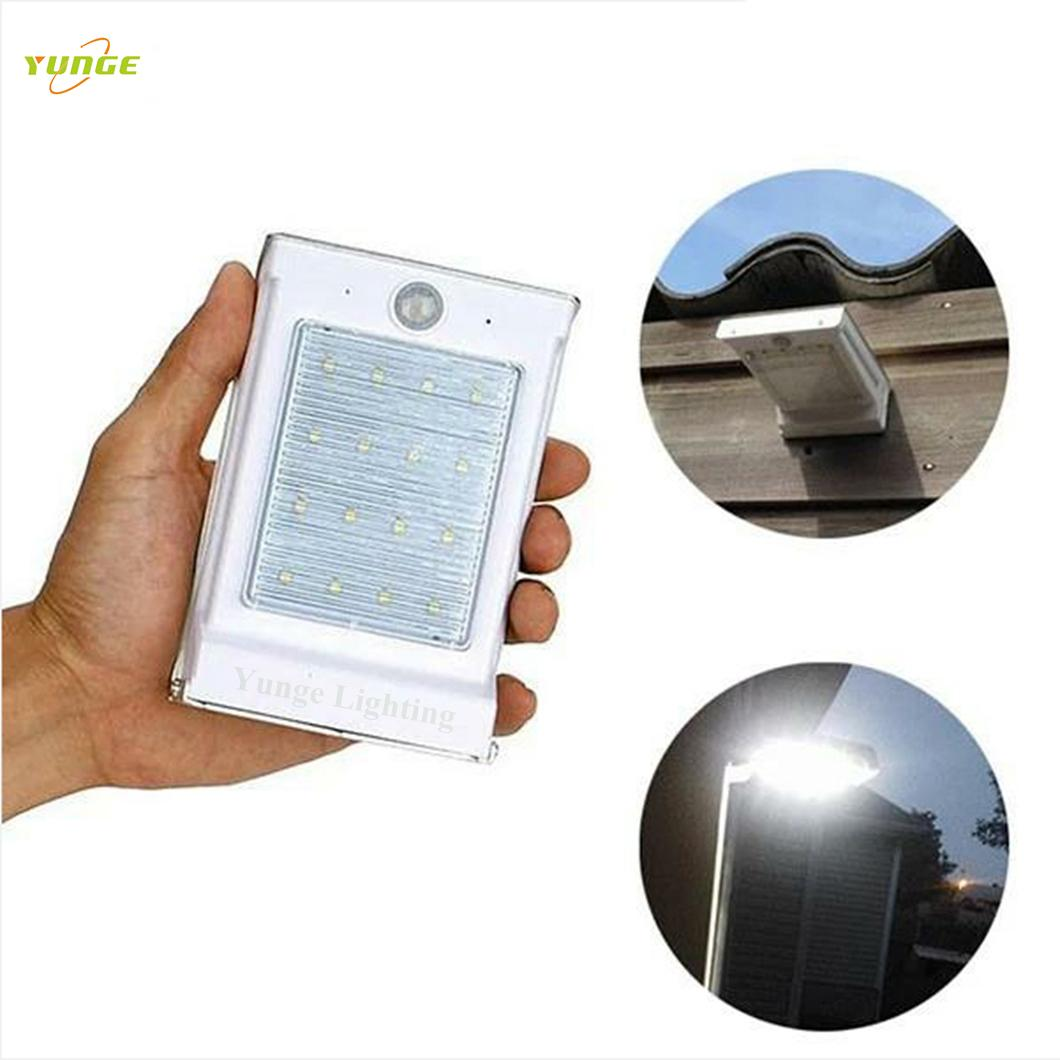 0.66W solar panel,1W LED Solar Wall Light With Built-in battery