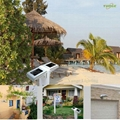 0.66W solar panel,1W LED Solar Wall Light With Built-in battery 10