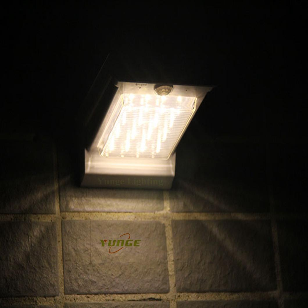 0.66W solar panel,1W LED Solar Wall Light With with battery box 6