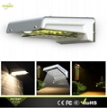 0.66W solar panel,1W LED Solar Wall Light With with battery box 3
