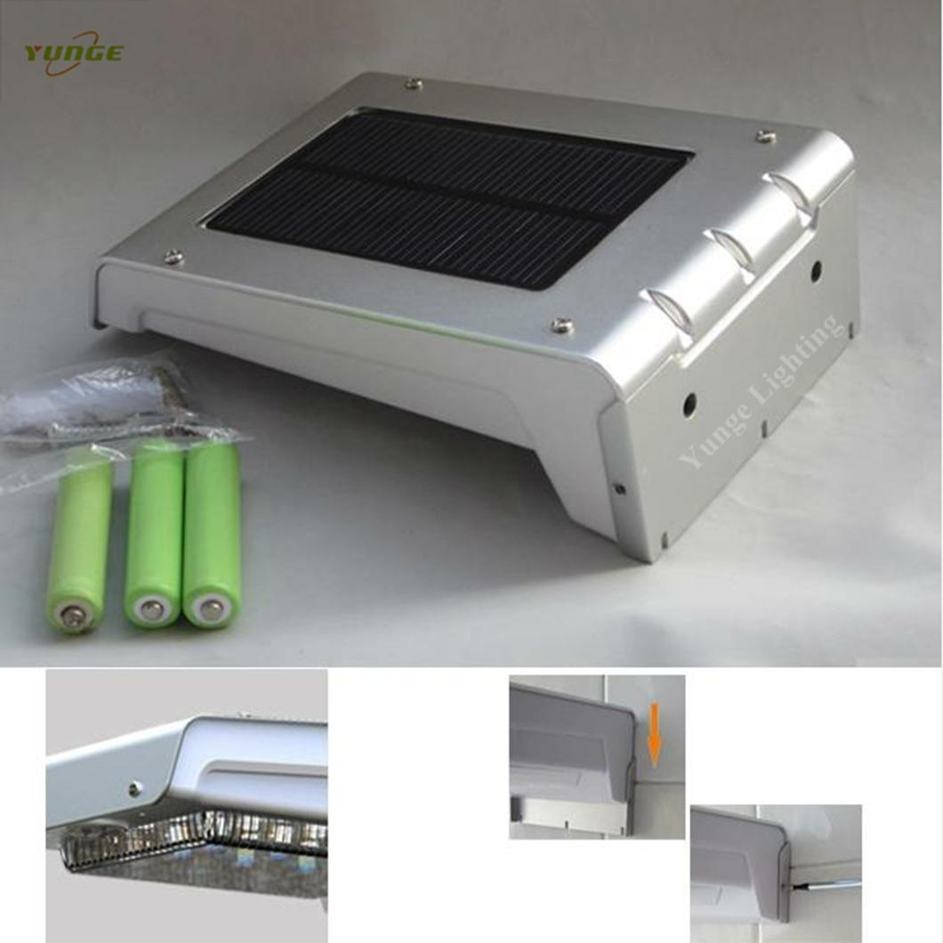 0.66W solar panel,1W LED Solar Wall Light With with battery box 4