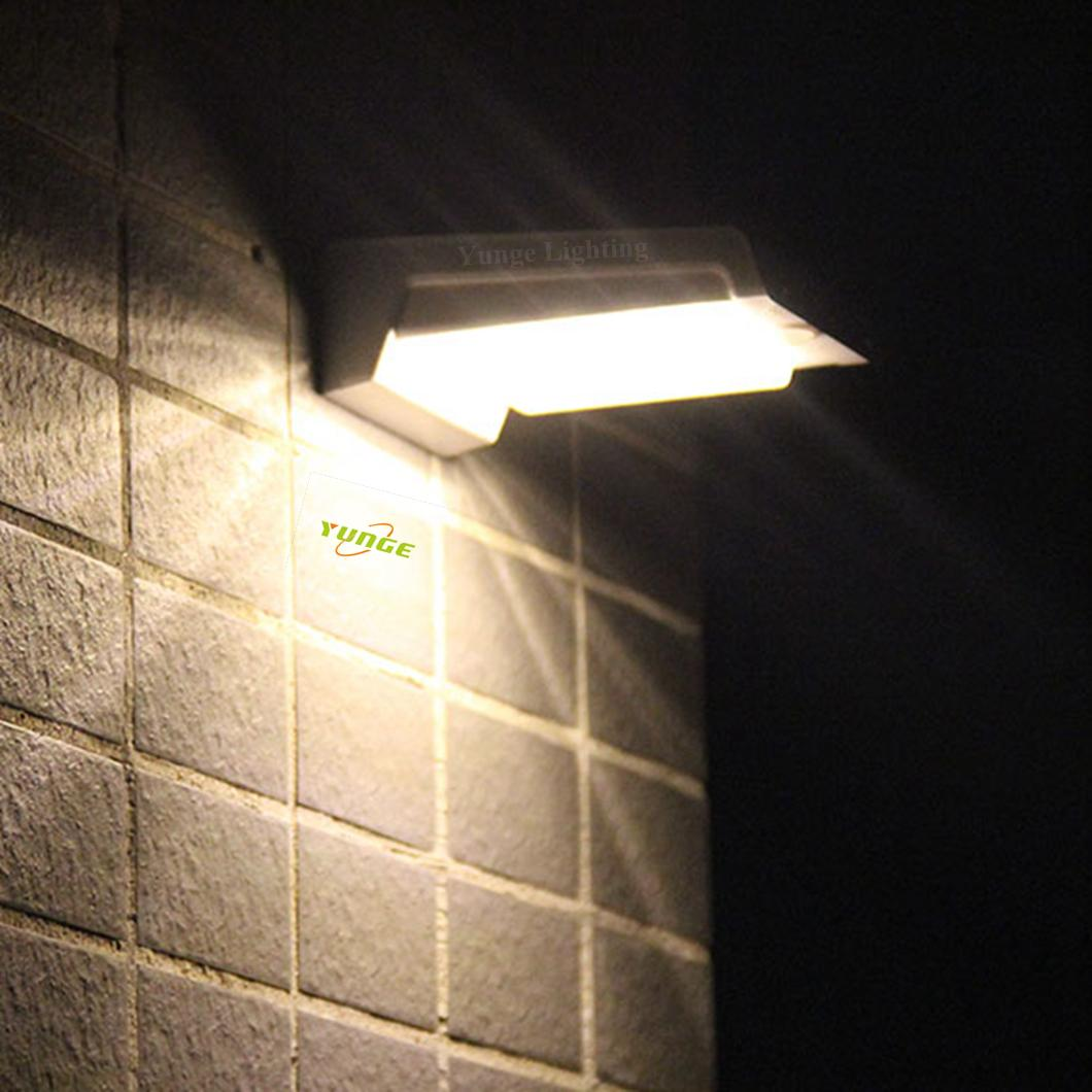0.66W solar panel,1W LED Solar Wall Light With with battery box 7