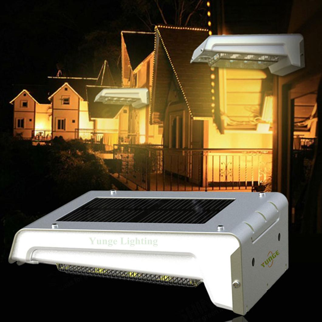 0.66W solar panel,1W LED Solar Wall Light With with battery box 11