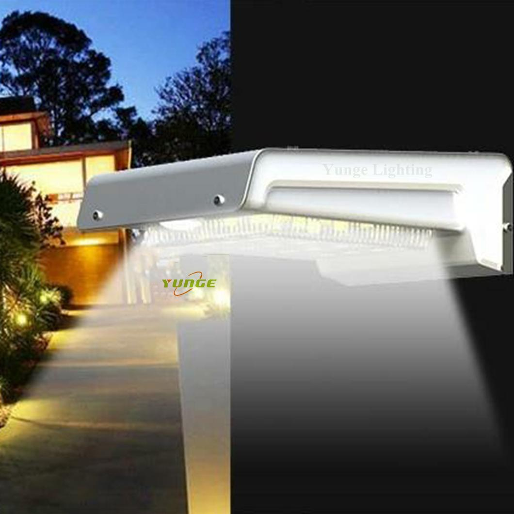 0.66W solar panel,1W LED Solar Wall Light With with battery box 12
