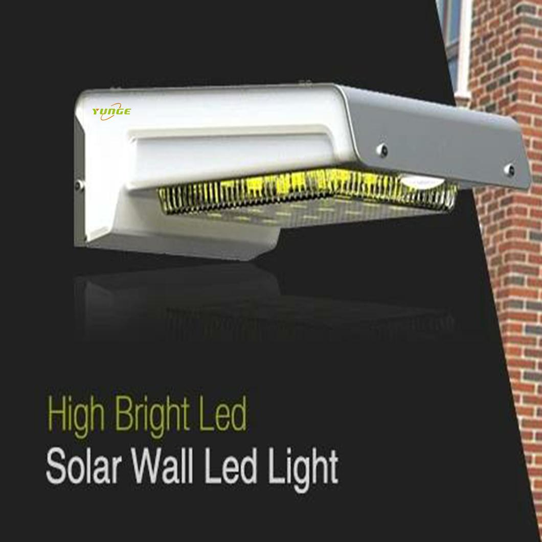 0.66W solar panel,1W LED Solar Wall Light With with battery box 13