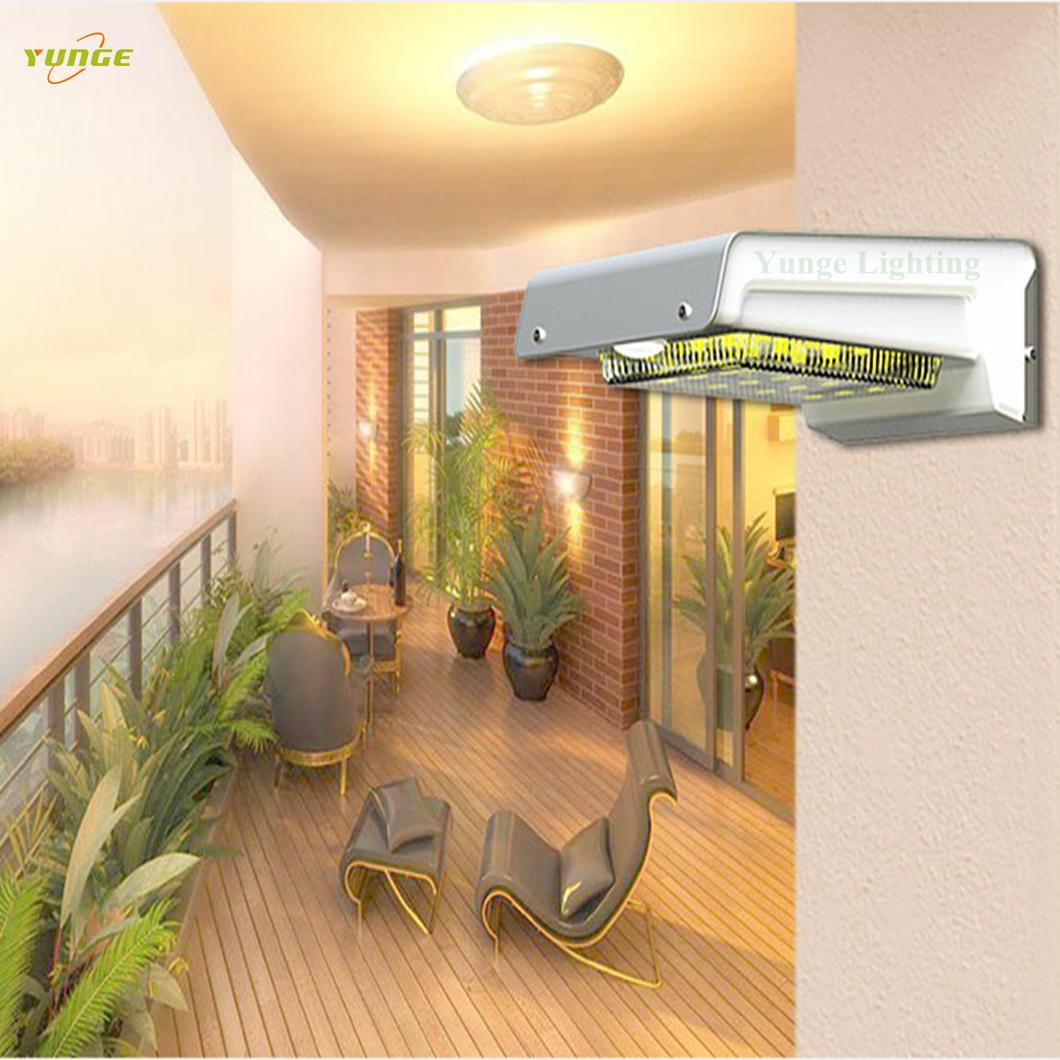 0.66W solar panel,1W LED Solar Wall Light With with battery box 16