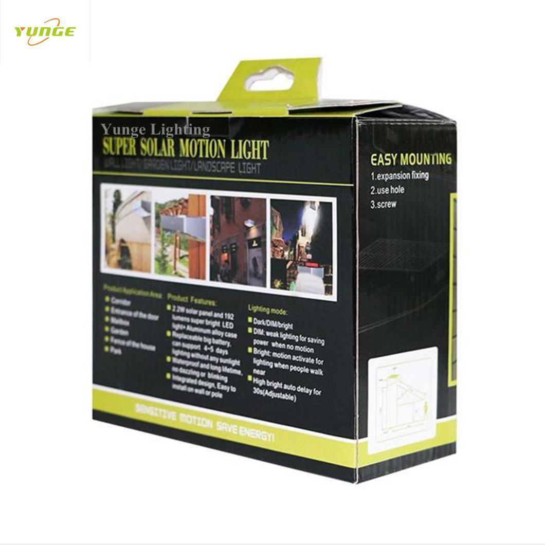 2.2W Solar panel,5W led solar wall light with Motion Senso 4